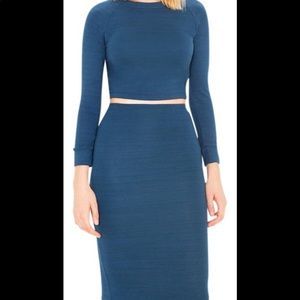 Pencil skirt with matching top.